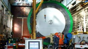 C-GEN neptune generator being assembled and tested in a structures laboratory
